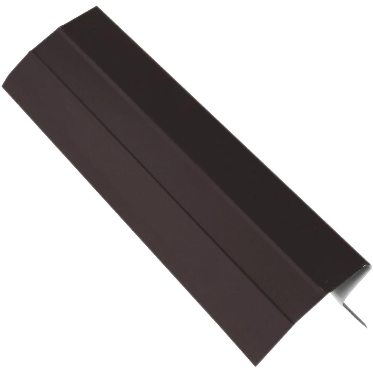 NorWesco D Galvanized Steel Roof & Drip Edge Flashing, Brown Image 1