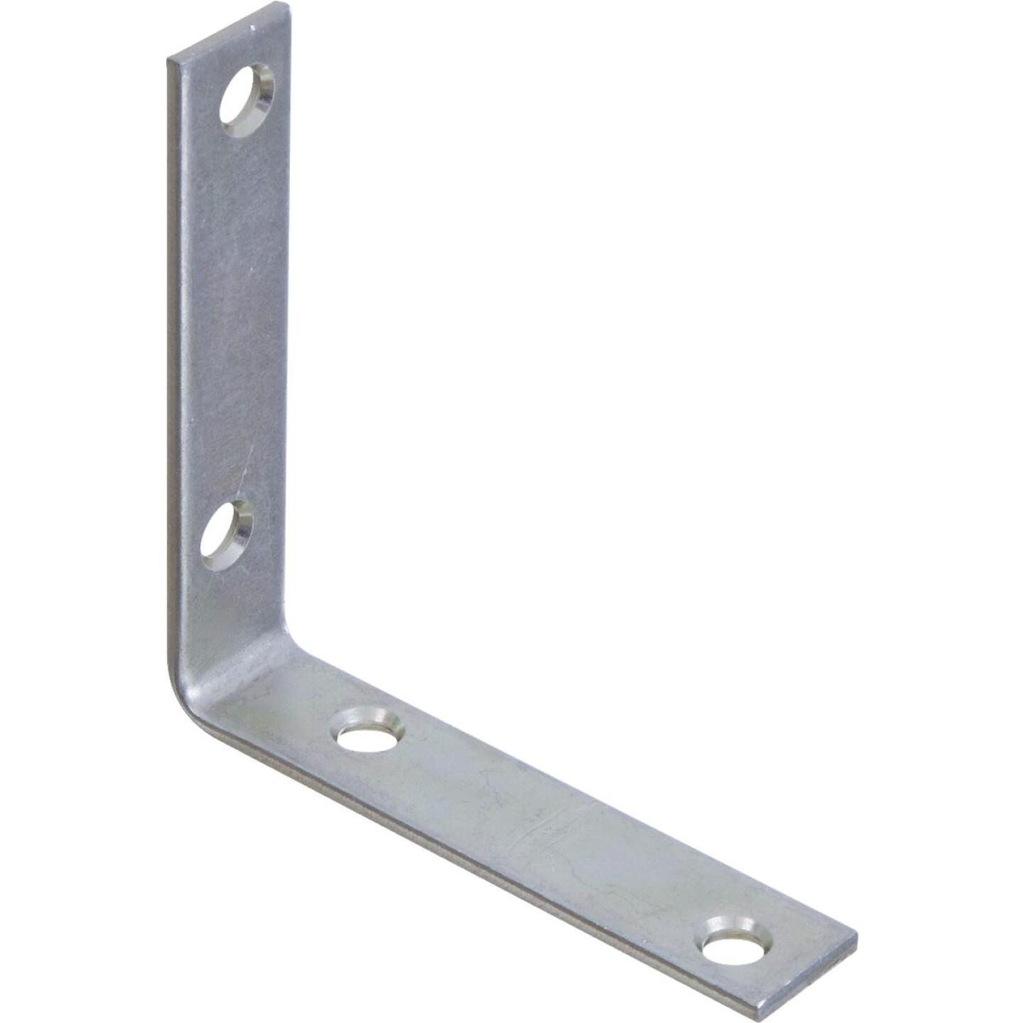 National Catalog 115 3-1/2 In. x 3/4 In. Zinc Corner Brace Image 1