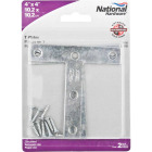 "National 4"" x 4"" Zinc T-Plate, (2-Pack) Image 2"