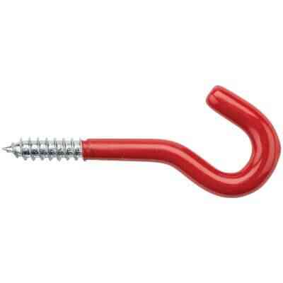 National 5/16 In. x 4-1/2 In. Red Vinyl Coated Screw Hook