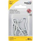 National #10 Zinc Finish Ceiling Hook (6 Pack) Image 2