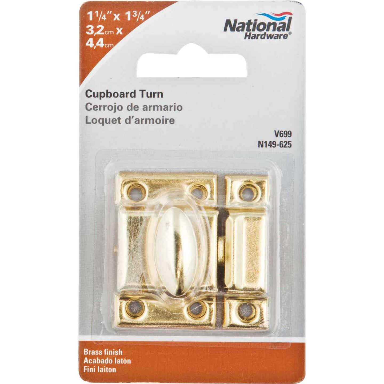 National Satin Brass Cupboard Turn Image 2