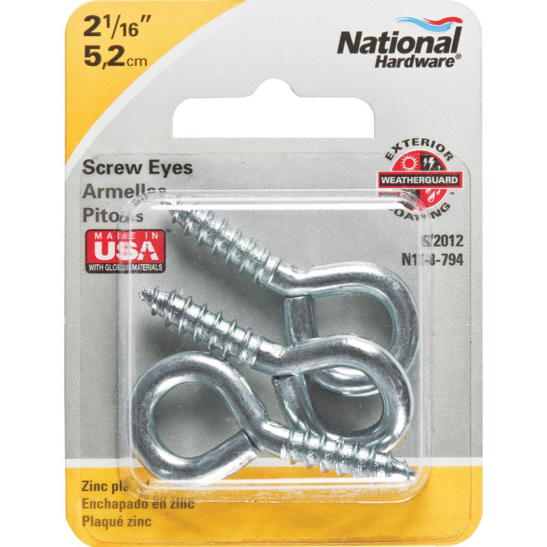 National #104 Zinc Medium Screw Eye (3 Ct.) Image 2
