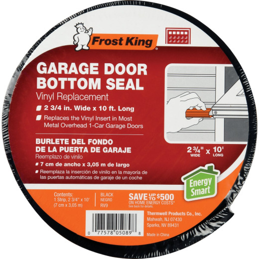 Do it 2-3/4 In. x 10 Ft. Black Vinyl Bottom Garage Door Seal