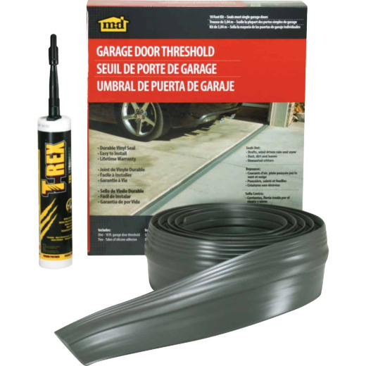 M-D 3-1/2 In. x 20 Ft. Gray Vinyl Threshold Garage Door Seal Kit