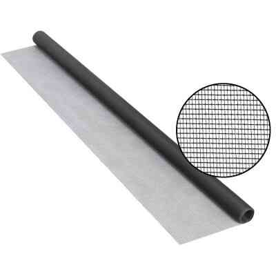 Phifer 30 In. x 84 In. Charcoal Fiberglass Screen Cloth Ready Rolls