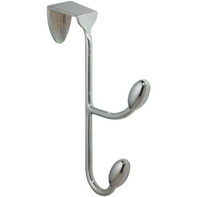 InterDesign Chrome 6 In. 4-1/4 In. Over-the-Door Hook