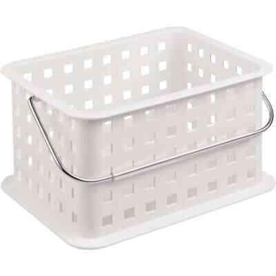 InterDesign Small White Plastic Basket