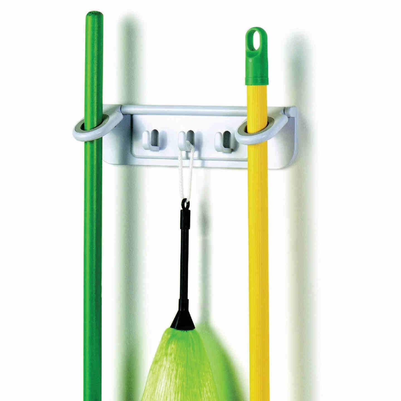 Spectrum 11-1/4 In. Mop & Broom Long Handle Tool Rack Image 1