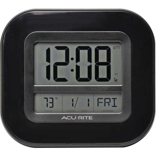 AcuRite Atomic Digital Wall Clock