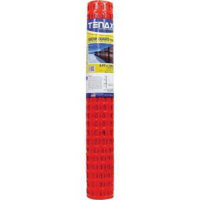 Tenax Sno-Guard 4 Ft. H. x 100 Ft. L. Polyethylene Snow Safety Fence, Orange